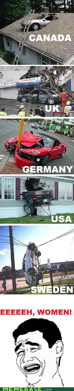 countries,drivers,Rage Comics,sexism,women,world