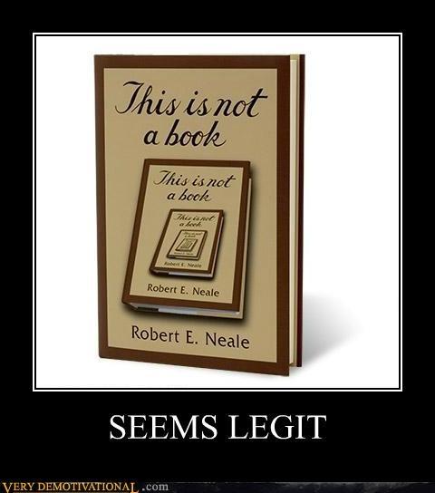 book hilarious not a book seems legit - 4968749824