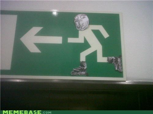 exit,fire,IRL,lol,lollerskate,Rage Comics,signs