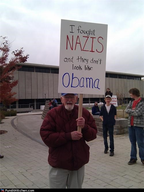 barack obama,friday picspam,Hall of Fame,nazis,political pictures,Protest