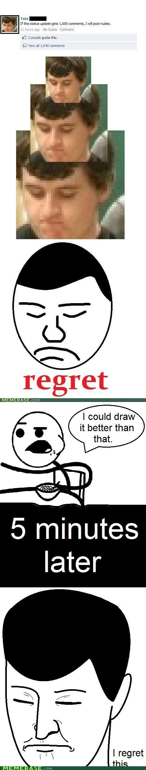 artist,cereal guy,facebook,Memes,Reframe,regret