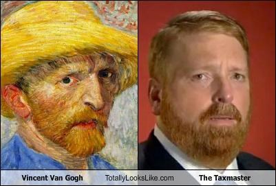 chuck norris,infomercial superstar,painter,Taxmaster,Vincent van Gogh