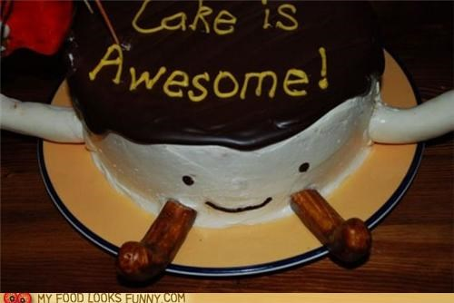 awesome,cake,face,lettering