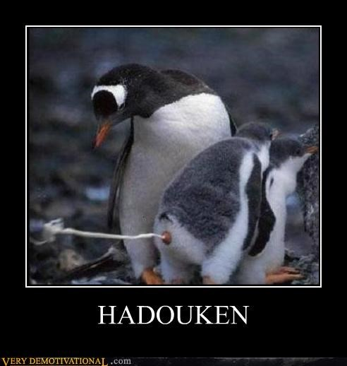 animals hadouken Hall of Fame hilarious penguins poop Street fighter video games - 4969604608