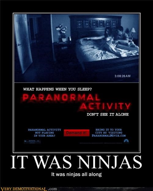 Movie ninjas paranormal activity Terrifying - 4969627136