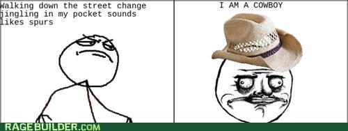 change cowboy me gusta Rage Comics spurs walking - 4969700864