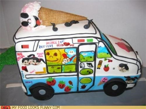 cake ice cream truck Music treat truck - 4969704960