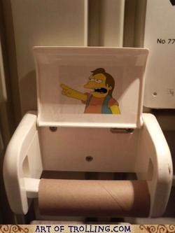 IRL,nelson,simpsons,toilet paper