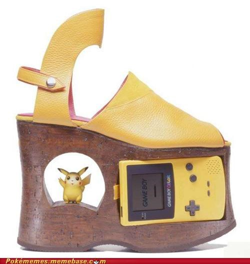 gameboy high heels pikachu shoes style - 4969809920