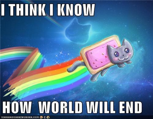 bang,ends,meow,Nyan Cat,whimper,world