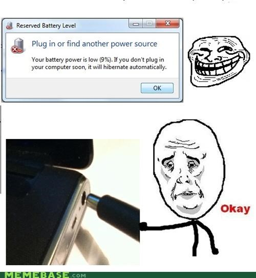 battery,Okay,plug,troll