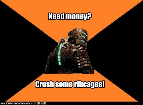 clothes dead space Memes money ribcages suit - 4969988864