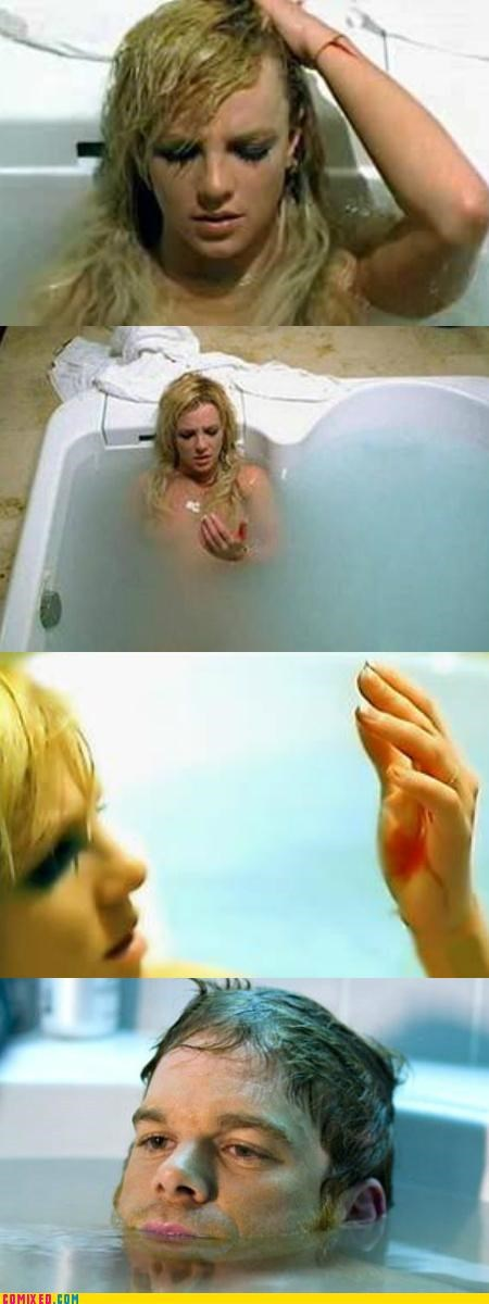 bath,Blood,britney spears,Dexter,TV