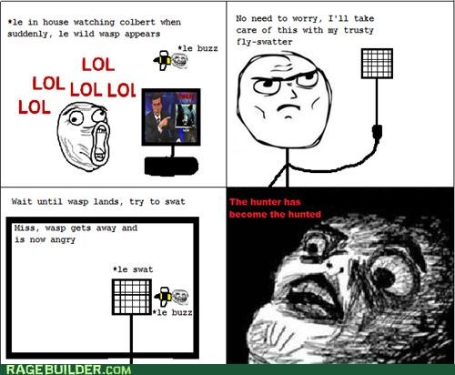 bee,lol,Rage Comics,raisin face,scary,wasp