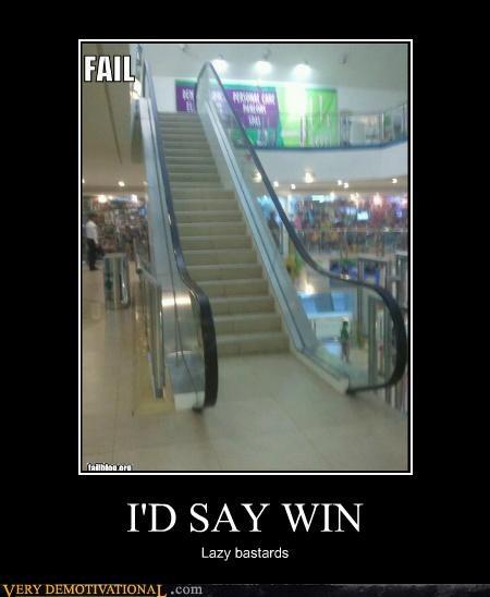 escalator FAIL hilarious stairs win - 4970234368