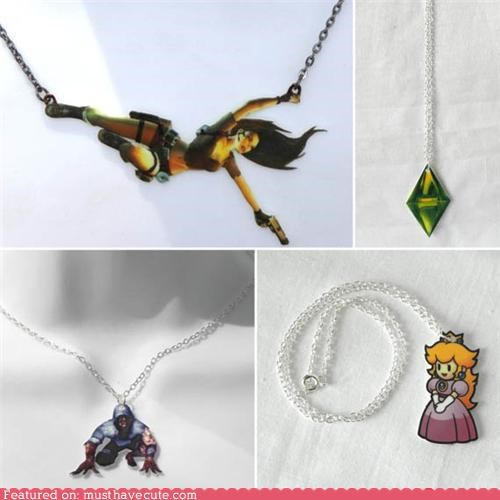chain Jewelry necklace pendant video games - 4970349824