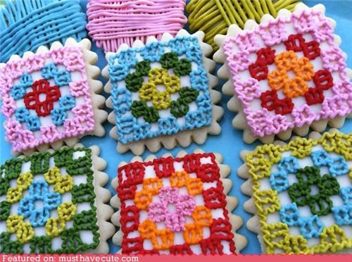 cookies crochet epicute icing pattern squiggly yarn - 4970413824