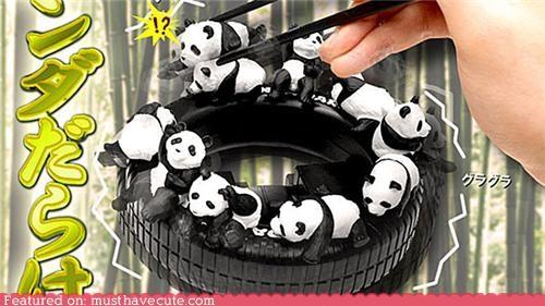 chopsticks panda plastic toys - 4970448384
