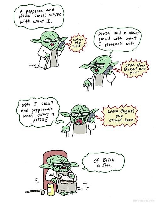 comics,jim benton,movies,pizza,star wars,Webcomic,yoda