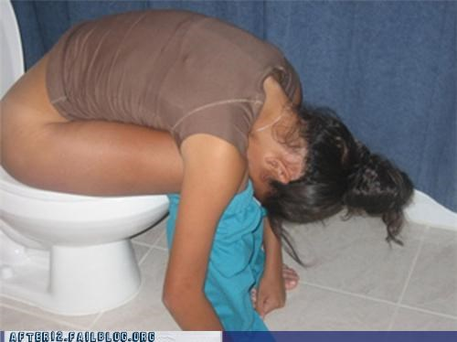 bathroom,passed out,toilet