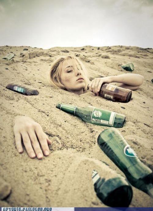 beach,bottles,buried,sand