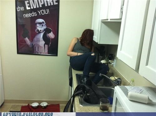 counter,kitchen,passed out,star wars
