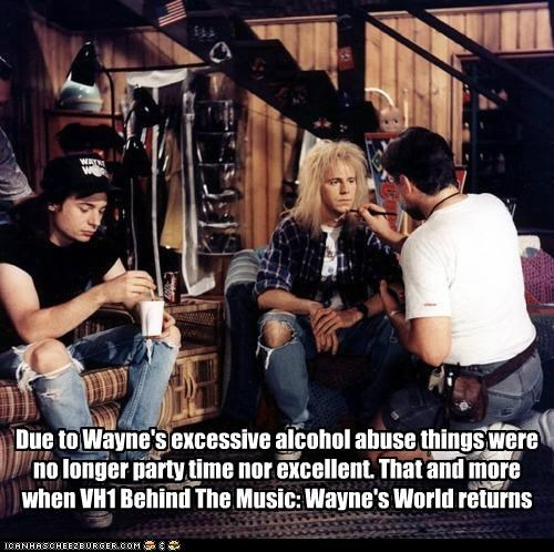 Due to Wayne's excessive alcohol abuse things were no longer party time nor excellent. That and more when VH1 Behind The Music: Wayne's World returns