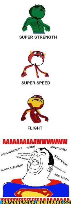 flash hulk ironman Rage Comics Random Heroics superman - 4970652160