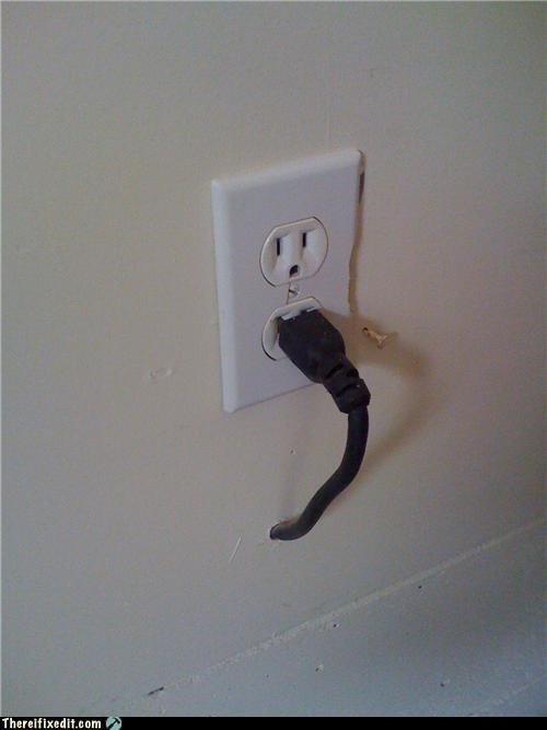 power cord socket wall