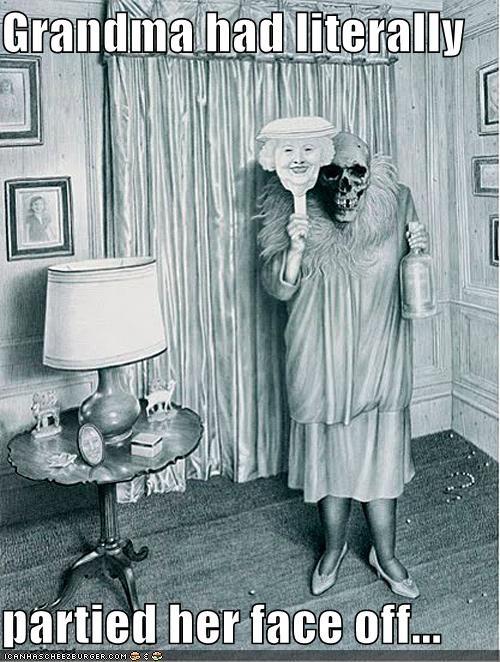 awesome grandma grandmother historic lols Party skeleton vintage - 4970787840