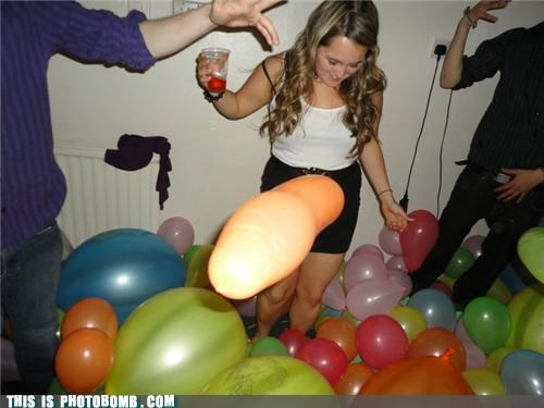 balloon dance genitals Jägerbombed Party