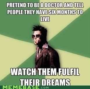 Disruptive Durden,doctor,dreams,fight club,tyler durden