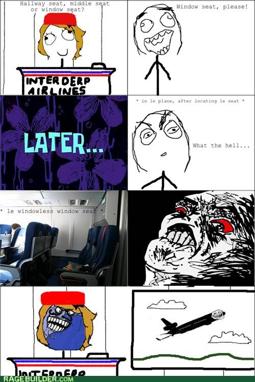 flying i lied planes Rage Comics window seat - 4970967552