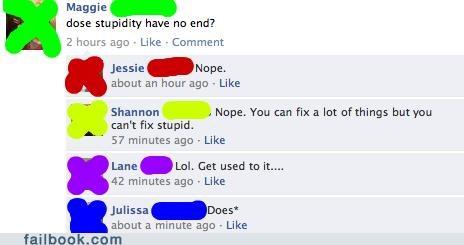 irony,spelling,stupidity