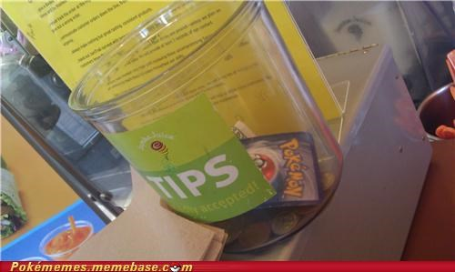 IRL,jamba juice,pokémon card,tip