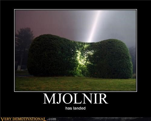 bush hilarious mjolnir thors-hammer