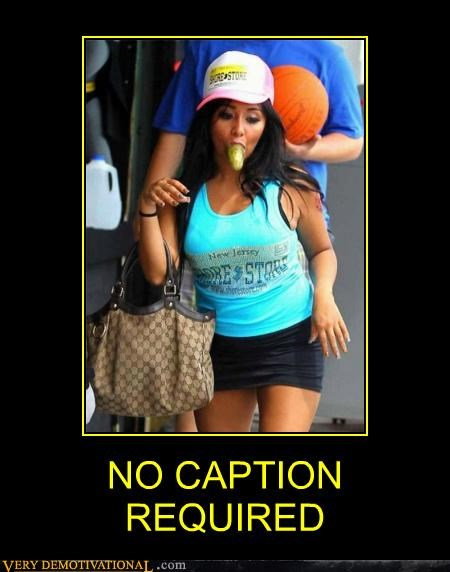hilarious,jersey shore,no caption,pickle,snooki
