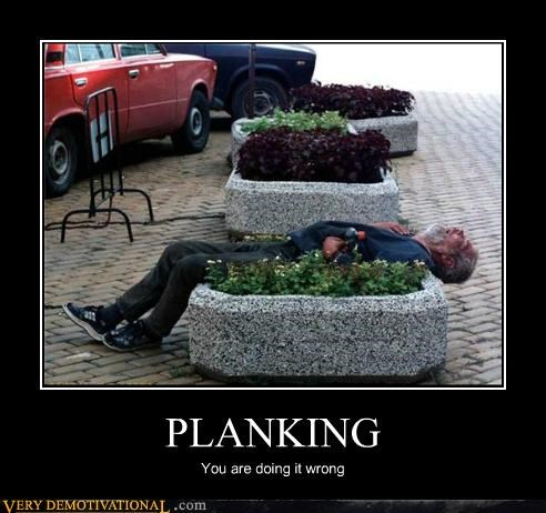 hilarious old guy Planking wrong - 4972776192