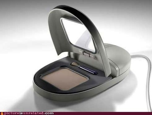 ladies makeup mouse technology wtf