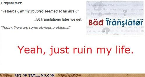 Bad Translator,lyrics,problems,today,yesterday