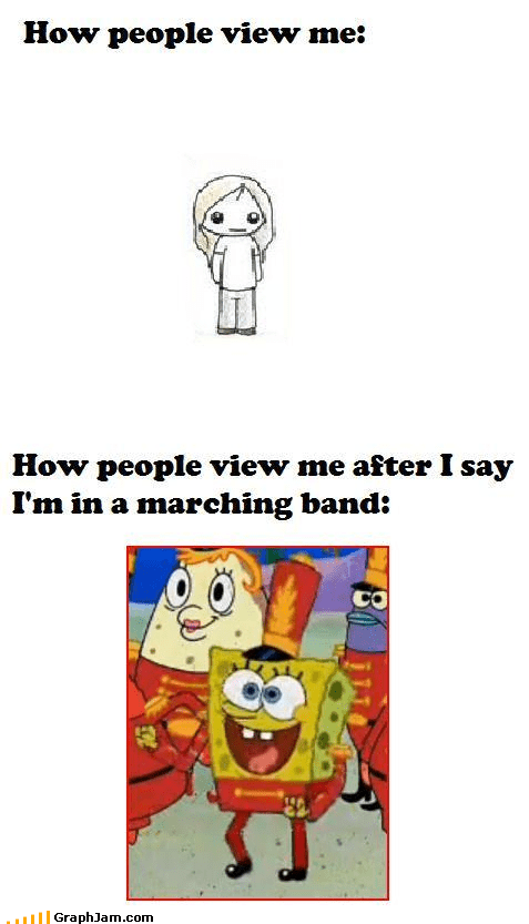 How People View Me marching band SpongeBob SquarePants