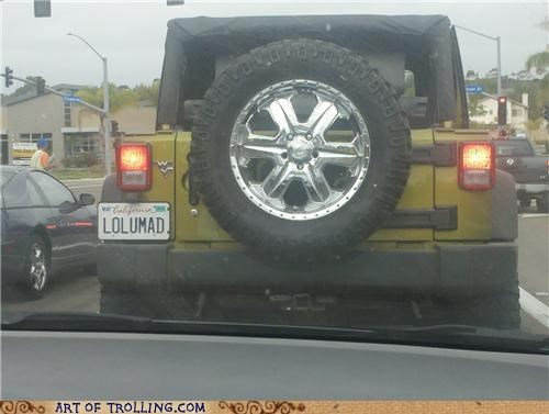 IRL license plate lol u mad traffic - 4973102592