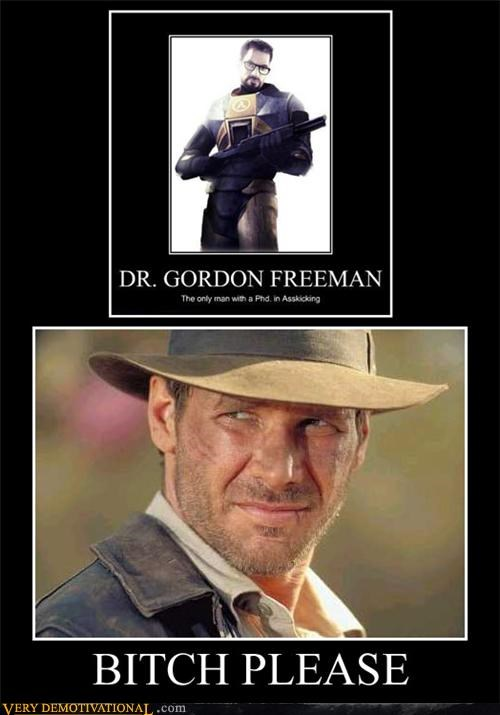 gordon freeman,Indiana Jones,Pure Awesome