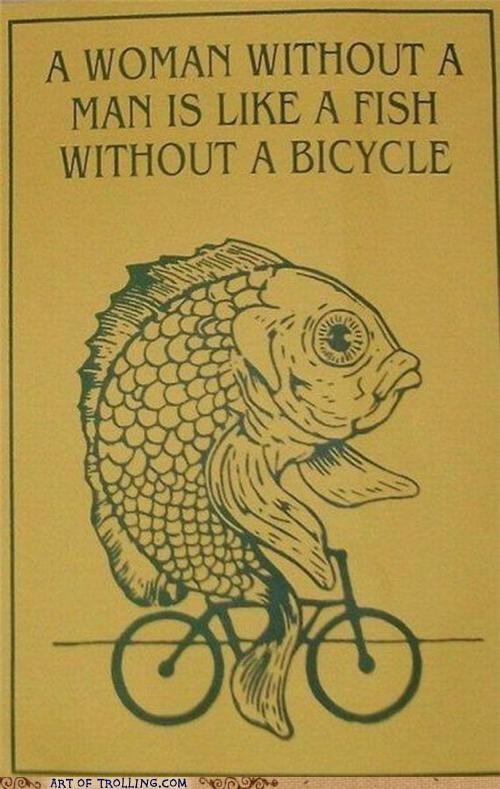 bicycle fish men women - 4973193984