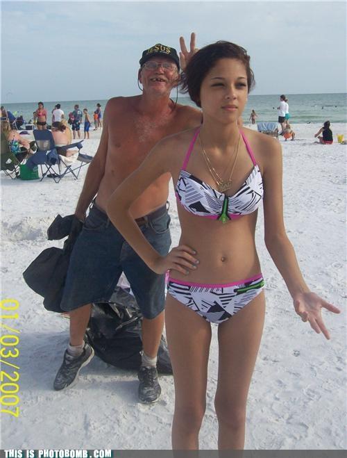 beach bikini bum creepy sneakers peace sign - 4973339648