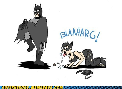 Awesome Art,batman,catwoman,hairball,wtf