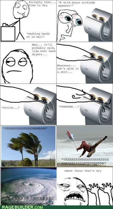 dryer hands Rage Comics sweet jesus have mercy