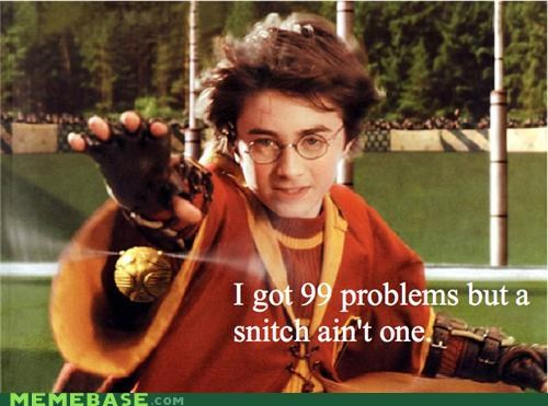 Harry Potter lyrics Memes snitch song
