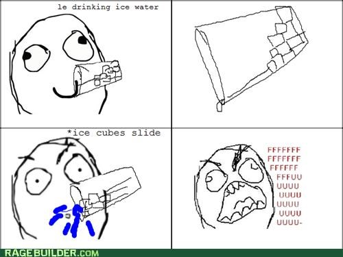 drinking,FAIL,fu guy,ice cubes,ice water,Rage Comics