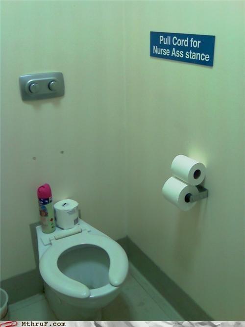 bathroom nurse sign - 4973734912